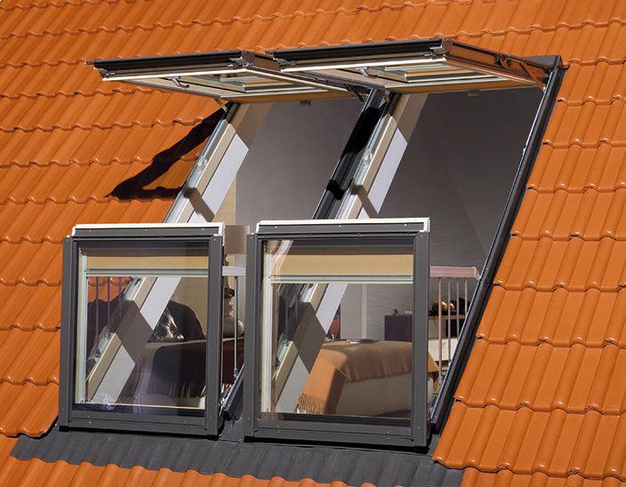 Мансардное двустворчатое окно FAKRO
