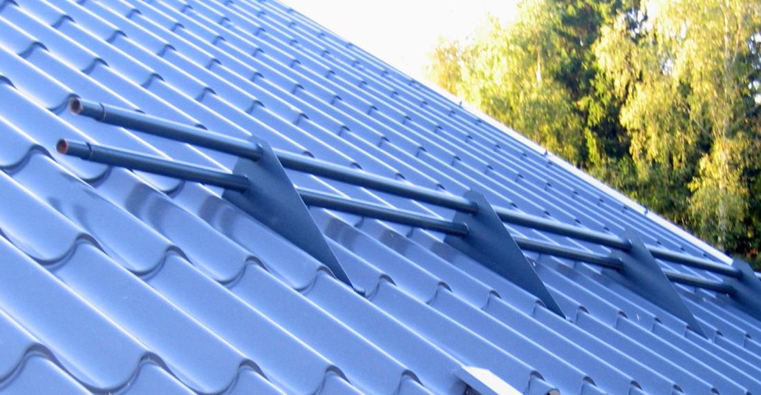 Как сделать снегозадержатели на крышу дома
